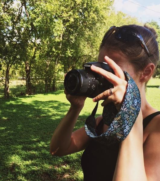 Easy camera strap cover
