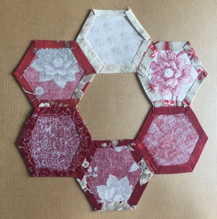 Paper-pieced hexagons